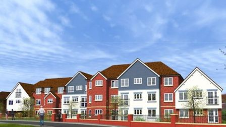 A design of the homes developers hope to build on the current Rileys site