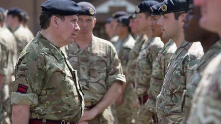 Jools Holland joined family and friends of soldiers who returned from Afghanistan this month at thei