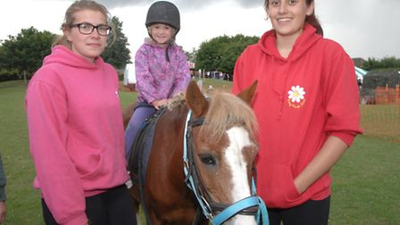 There were even pony rides at the summer fete.