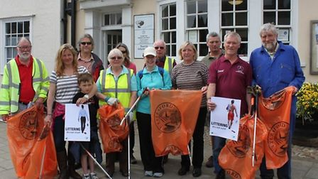 Thaxted Parish Council and a number of willing volunteers kicked off the pan-Essex anti-litter campa