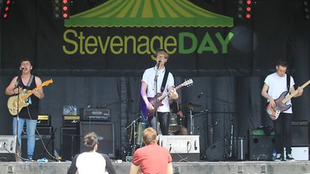 Young Minorities on stage at Stevenage Day