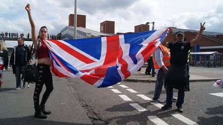 English Defence League rally credit: Oliver Pritchard