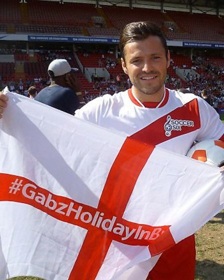 TOWIE's Mark Wright shows his support for Holiday in Brazil