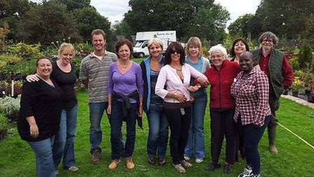 Volunteers at Waste Not, Want Not, affiliated to North Herts CVS volunteering