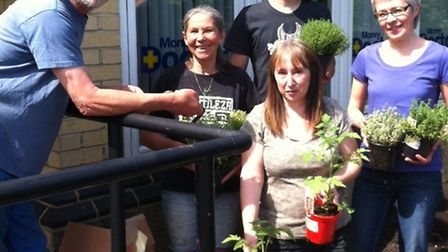 Dig-it volunteers spruced up the outside space at the Uttlesford CAB offices in Saffron Walden.