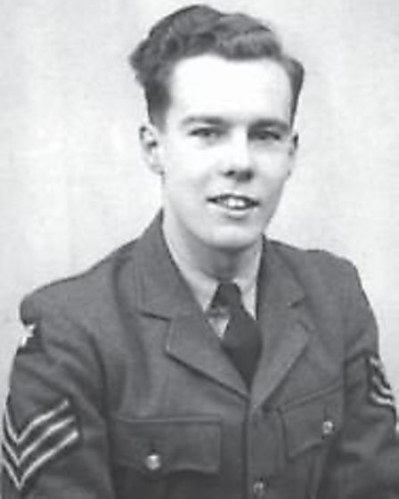 John in his uniform after being drafted into the RAF in 1940