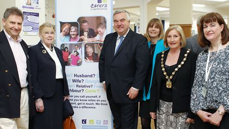 Trustee Andrew Mills, Leader of the NH District Council Cllr Lynda Needham, MP for North East Hertfo