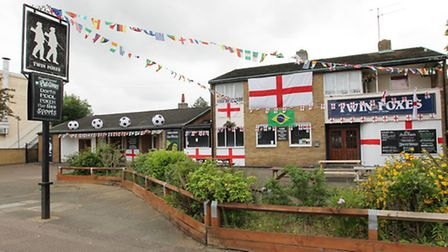 The Twin Foxes pub on Rockingham Way in Stevenage has been described as the best dressed pub for the