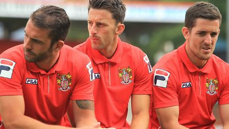New signings Simon Walton, Chris Whelpdale and Andy Bond