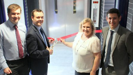 Stevenage railway station is newly refurbished and with new passenger lifts which were opened by Ste