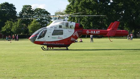 An air ambulance was called to the house in Shefford on Saturday