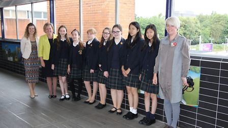 Pupils from St Francis College