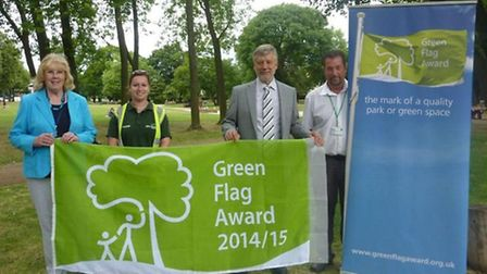 Green Flag awards were handed out to Norton Common and Howard Park and Gardens in Letchworth, and Ou