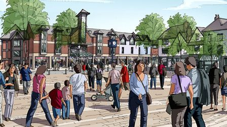 The Hammersmatch drawing shows improved frontage to the Churchgate shopping centre