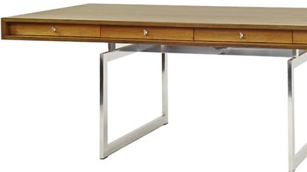 The 'James Bond' desk which will go on sale at an auction in Stansted Mountfitchet.