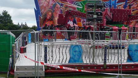 The closed fairground ride at Sonisphere Festival 2009 in Knebworth Park [Picture: Alan Davies]