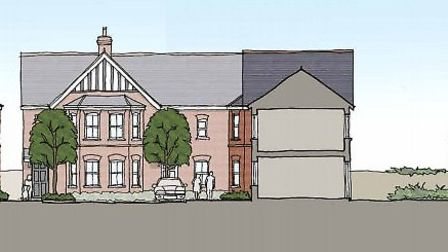 Front elevations of the proposed developments on Vincent Court