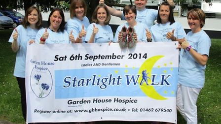 The launch of the Starlight Walk in aid of Garden House Hospice in Letchworth