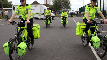 Ambulance bikes will be provided at the Essex stage of the Tour de France tomorrow by St John Ambula