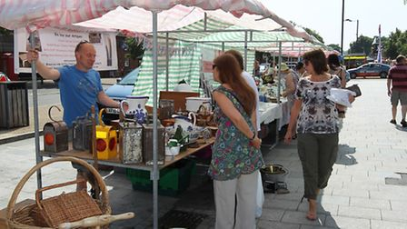 Some of the stalls on Baldock High Street for last year's event