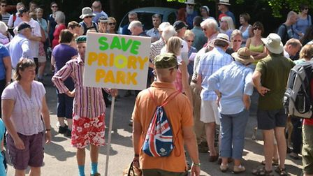 The walk was organised by Hitchin Town Action Group