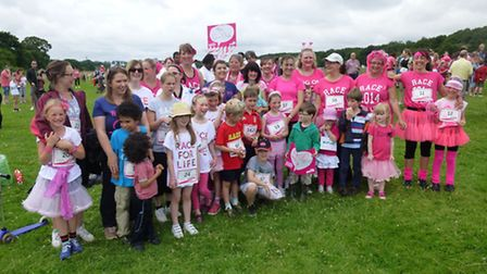 Julia Lawley completed the race along with friends and children in the The Gin Club team and raised