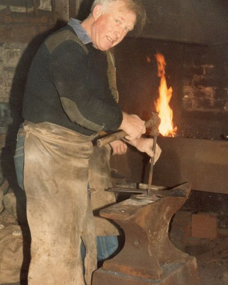 Oliver Kenchington, known as Jack the Blacksmith, worked in Baldock as a farrier for more than 40 y