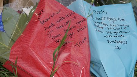 Family and friends have been leaving tributes to Jack on Royston Road, Baldock