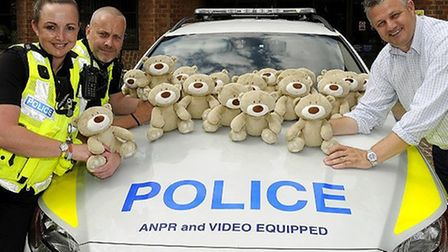 Launch of Trauma Teddy Bears for child victims of traffic collisions. PC Trauma Teddy and friends s