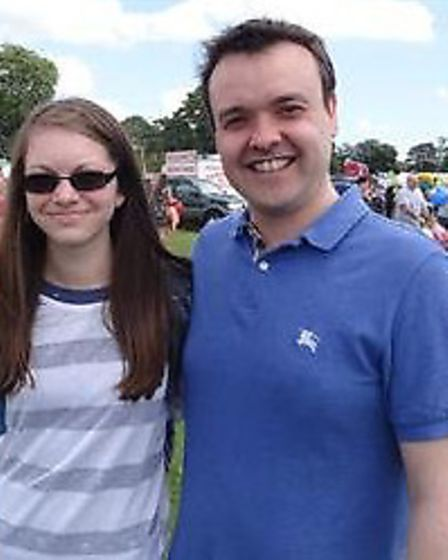 Iona Kelso with Stevenage MP Stephen McPartland