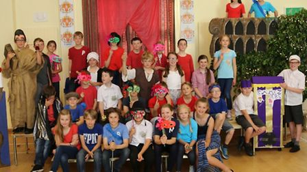 Year 5 and 6 pupils at Great Sampford Primary School put on a production of Romeo & Juliet to celebr