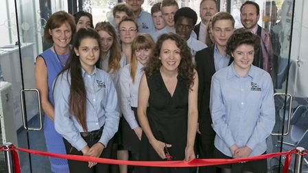 Former presenter of BBCs Tomorrows World Kate Bellingham at the official opening of the Da Vinci Stu