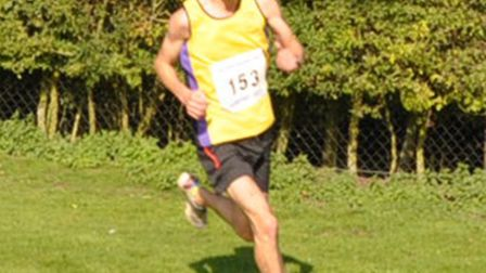 Andy Mynott rounds the final bend on his way to victory in the Saffron 10k last year.