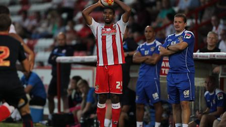 Jerome Okimo has been on trial at Stevenage. Photo: Harry Hubbard