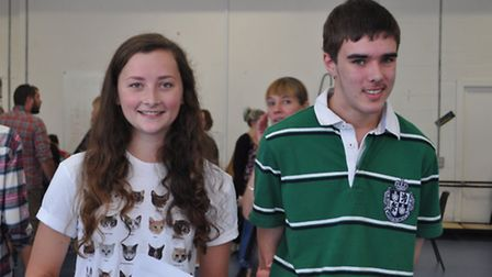 Comet GCSE results: The Samuel Whitbread Academy - Jodie Lilley and Andrew Smith celebrate their res