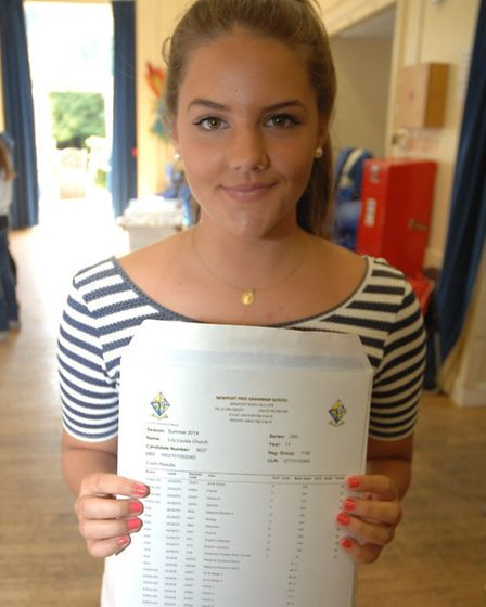 Lily Church, 16, has aspirations of becoming a barrister and is hoping to study law at university.