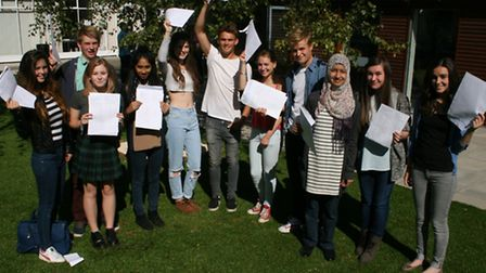 Comet GCSE results: Students from The Priory in Hitchin with their results.