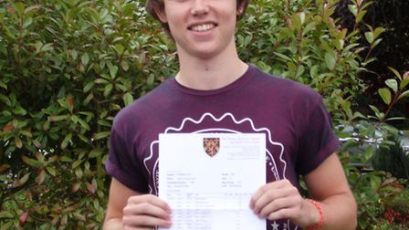 Callum Dove got A grades in sociology and English literature and a B in history.