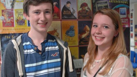 Jack Kelly, 18, from Little Canfield, and Chloe Wernick, of Woodlands Park, Dunmow, were both please