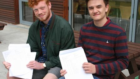 Priory School student Tom Brennan (L) will be studying Law at Christchurch, Oxford and fellow pupil