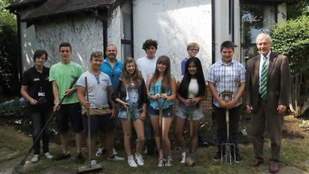 MP Sir Alan Haselhurst joined teenagers as part of the National Citizen Service.