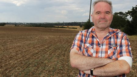 Knebworth resident Nick King is concerned with the plans to build a solar farm in nearby farmland wi