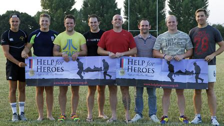 The match is being held to raise money for Help For Heroes - a charity that helps injured servicemen