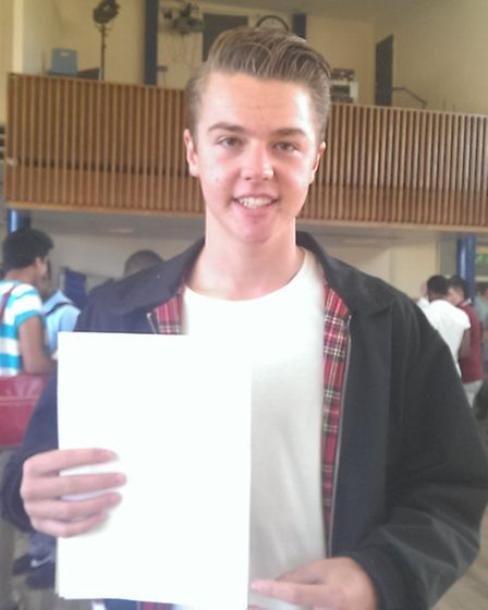 Star performer Robert Bolton from Barclay achieved six A*s, three As and a B. Credit: Casey Goodman