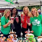 Staff from the Stevenage Town Centre Management take part in the Macmillan Coffee Morning event