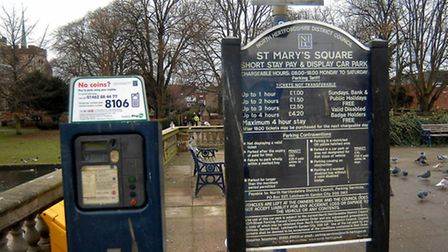 St Mary's Square car park in Hitchin.
