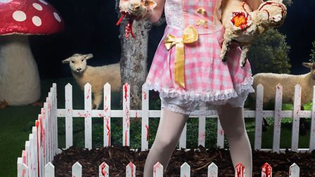 Food artist Miss Cakehead is creating the worlds first edible horror farm at Standalone Farm in Letc