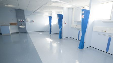 Recovery area for patients in the new centre at Lister Hospital in Stevenage