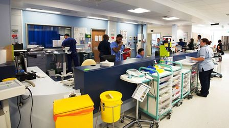 Staff station within the majors area of the new emergency department