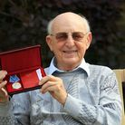 Fred Terretta with his Artic Medal